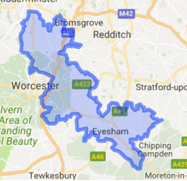 Mid Worcestershire Map