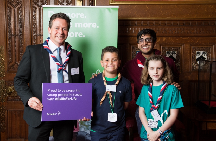 Nigel Huddleston MP with Scouts 2