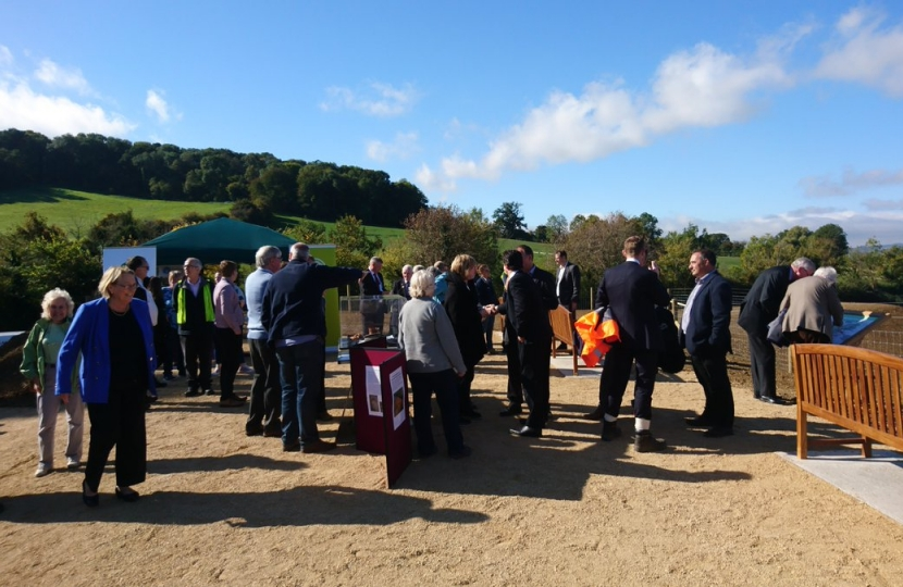 Opening of the Badsey Brook flood management scheme