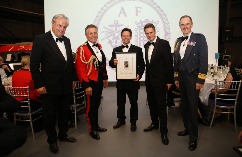 Nigel Huddleston MP graduating AFPS with Gavin Williamson and James Gray