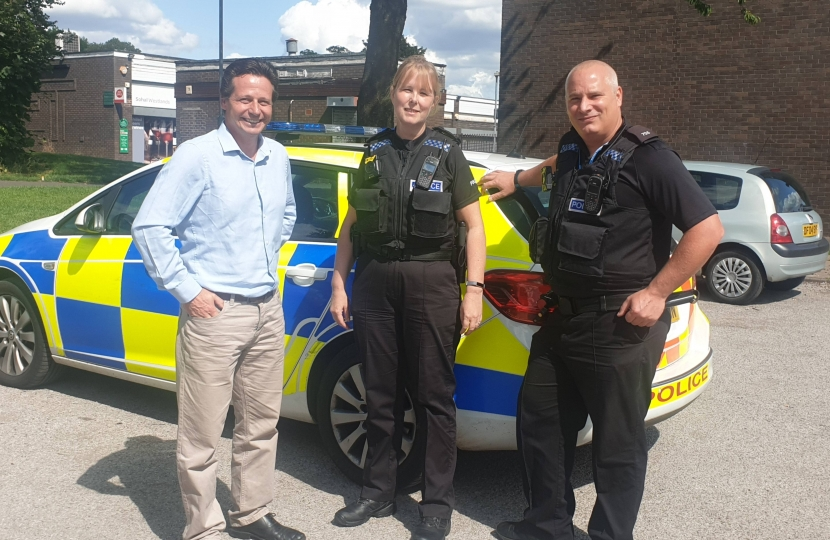 Nigel with Safer Neighbourhood Team - Give a Day to Policing
